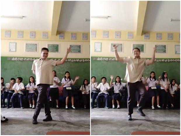 Thầy giáo nhảy cover ca khúc của MOMOLAND sexy và chất không kém bản gốc khiến đám học sinh phát cuồng - Ảnh 2.