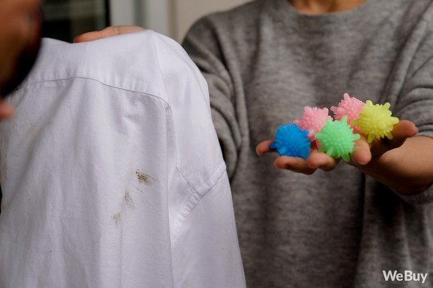 Trông như mô hình virus HIV, đây lại là quả bóng giặt giúp quần áo phẳng phiu, sạch sẽ - Ảnh 4.