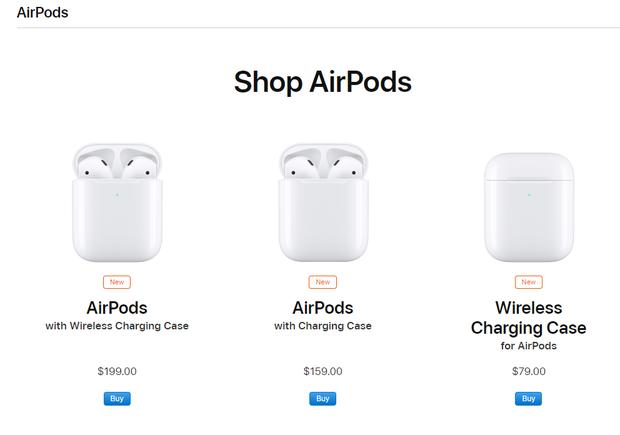 Apple chính thức ra mắt AirPods 2: Không có màu đen, có sạc không dây, giá cao nhất 4,7 triệu đồng - Ảnh 1.