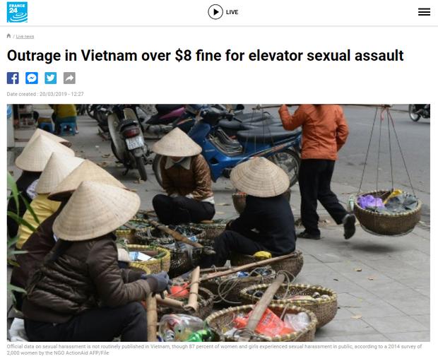 Báo Tây ngỡ ngàng với mức phạt chỉ 200 nghìn đồng dành cho yêu râu xanh cưỡng hôn trong thang máy - Ảnh 1.