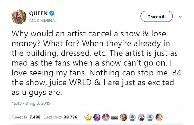 """Một loạt lý do xúi quẩy khiến Nicki Minaj thay thế danh hiệu """"nữ hoàng hủy show"""" của Ariana Grande - Ảnh 4."""