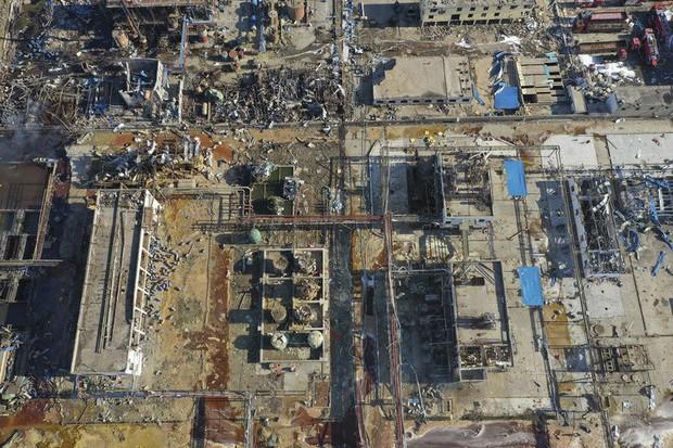 Hiện trường vụ nổ nhà máy hóa chất Trung Quốc, 47 người thiệt mạng - Ảnh 7.