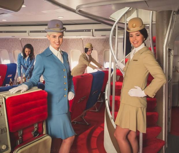 Trải nghệm hạng thương gia trên chiếc Boeing 747 theo phong cách retro: Giống như đang xem một bộ phim cổ điển! - Ảnh 5.