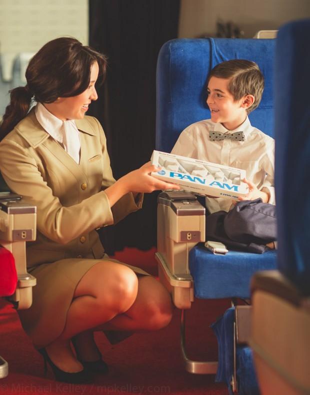 Trải nghệm hạng thương gia trên chiếc Boeing 747 theo phong cách retro: Giống như đang xem một bộ phim cổ điển! - Ảnh 7.