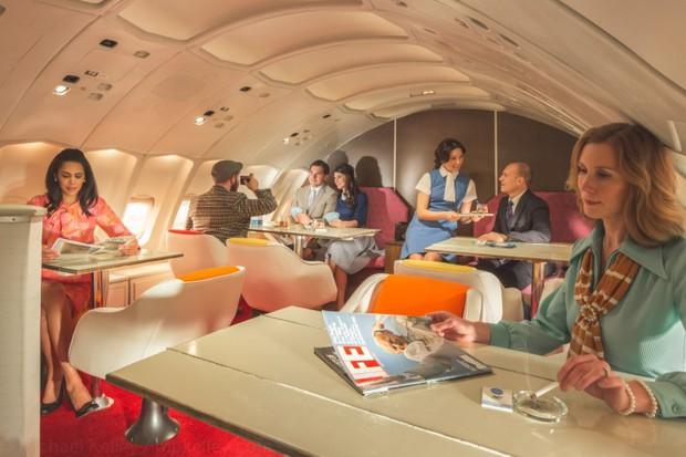 Trải nghệm hạng thương gia trên chiếc Boeing 747 theo phong cách retro: Giống như đang xem một bộ phim cổ điển! - Ảnh 15.