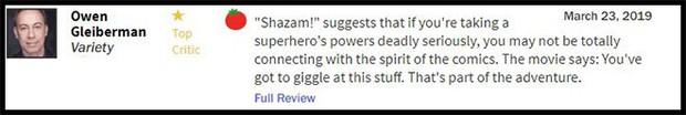 Thánh nhây Shazam đạt 93% trên Rotten Tomatoes, được giới phê bình gọi là phim DC hay nhất từ trước đến nay - Ảnh 2.