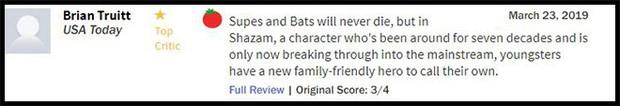 Thánh nhây Shazam đạt 93% trên Rotten Tomatoes, được giới phê bình gọi là phim DC hay nhất từ trước đến nay - Ảnh 5.