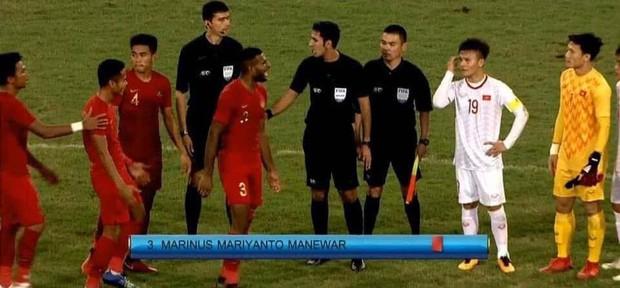 HLV U23 Indonesia tố cáo cầu thủ Việt Nam khiêu khích khiến cầu thủ già trước tuổi bị thẻ đỏ - Ảnh 1.