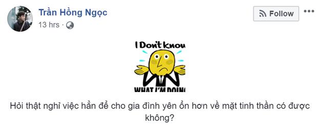 MC Trần Ngọc đăng status lạ hỏi có nên nghỉ việc để gia đình yên ổn, dân tình vào khuyên nhủ hết lời - Ảnh 1.