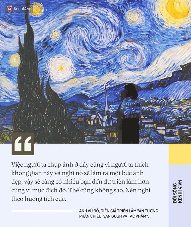 Check-in thì đã sao, chính diễn giả tại triển lãm Van Gogh ở VCCA cho biết: Tôi thấy các bạn tham gia rất lịch sự và nghiêm túc - Ảnh 14.