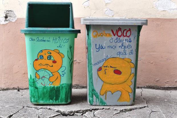 Nhìn những thùng rác này của sinh viên Nhân Văn, ai mà không nhặt rác cho vào đúng là có lỗi với môi trường! - Ảnh 12.