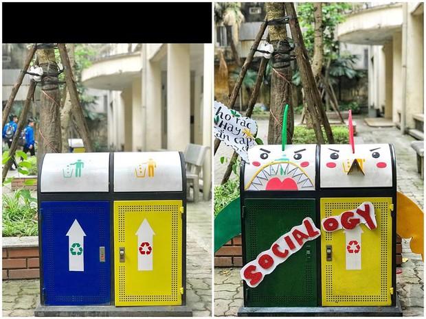 Nhìn những thùng rác này của sinh viên Nhân Văn, ai mà không nhặt rác cho vào đúng là có lỗi với môi trường! - Ảnh 17.