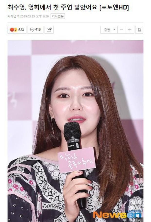 """Lần đầu nhận vai nữ chính, Sooyoung (SNSD) đã bị phản đối: """"Idol nhà SM có ai biết diễn bao giờ đâu! - Ảnh 6."""