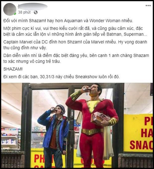 Khán giả Việt sau buổi công chiếu phát cuồng vì Shazam: Phim siêu anh hùng lầy lội nhất từ trước đến nay - Ảnh 1.