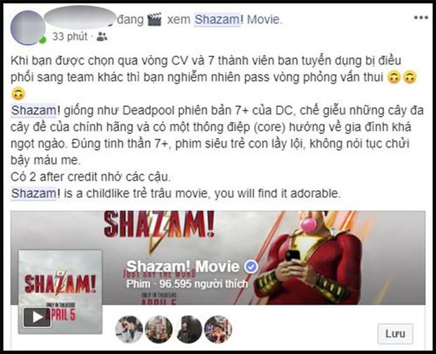 Khán giả Việt sau buổi công chiếu phát cuồng vì Shazam: Phim siêu anh hùng lầy lội nhất từ trước đến nay - Ảnh 2.