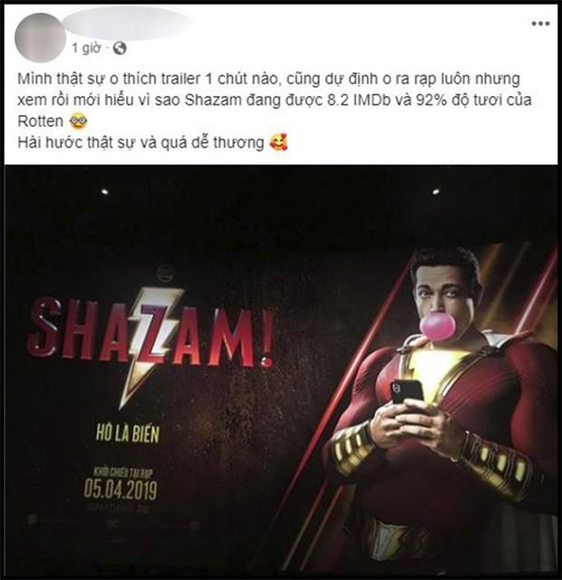 Khán giả Việt sau buổi công chiếu phát cuồng vì Shazam: Phim siêu anh hùng lầy lội nhất từ trước đến nay - Ảnh 3.