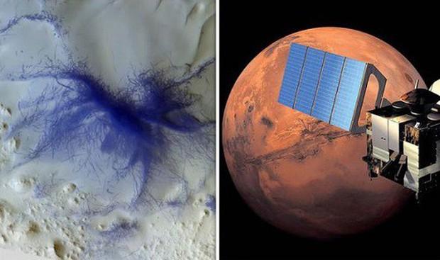 Bằng chứng sự sống trên sao Hỏa: Tàu vũ trụ châu Âu chụp được ảnh nhện xanh trên bề mặt? - Ảnh 1.