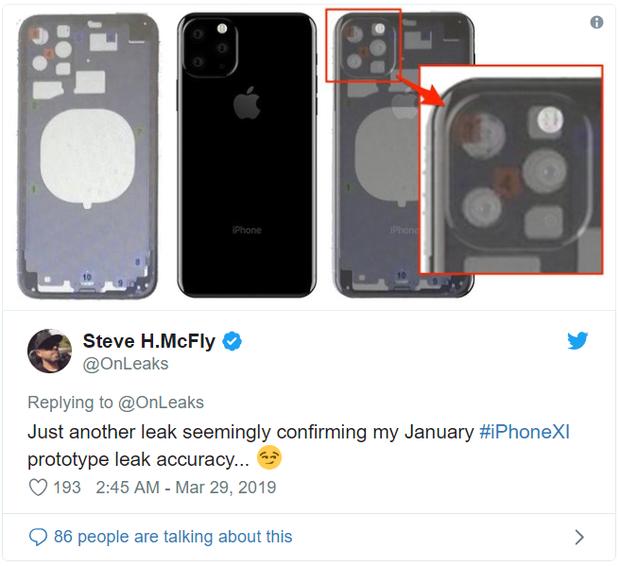 iPhone 11 là đây: Cụm 3 camera nằm trong hình vuông nhưng lại xếp lệch theo hình tam giác - Ảnh 1.