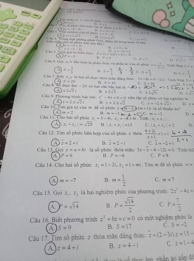 Giáo viên chơi thuyết âm mưu: Học sinh tự tay giải bài nhưng vẫn hoang mang tột độ vì đáp án đúng toàn A! - Ảnh 1.
