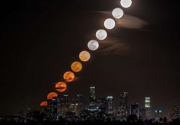Những bức ảnh thú vị về Mặt trăng ở hình dáng và kích thước khác nhau - Ảnh 2.