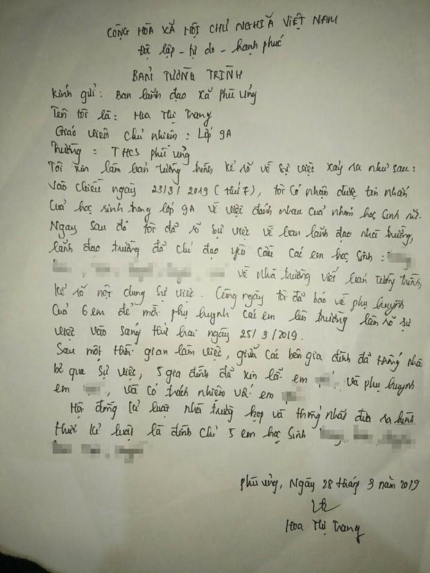 Bức xúc với bản tường trình của cô chủ nhiệm lớp nữ sinh bị lột đồ: Tôi có nhận được tin nhắn về việc đánh nhau, 5 gia đình đã xin lỗi em ấy - Ảnh 2.