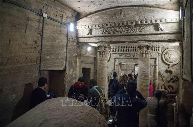 Ai Cập cứu nguy khu hầm mộ hơn 2.000 năm tuổi - Ảnh 1.
