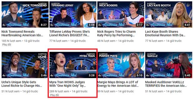Minh Như sau phần thi gây bão tại American Idol: Lượt view YouTube nhanh chóng dẫn đầu tập 1 - Ảnh 4.
