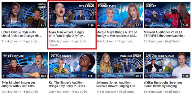 Minh Như sau phần thi gây bão tại American Idol: Lượt view YouTube nhanh chóng dẫn đầu tập 1 - Ảnh 3.