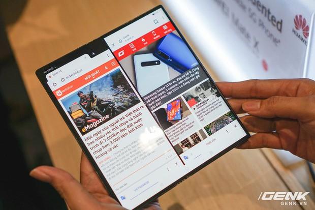 Huawei Mate X đầu tiên về Việt Nam: Soi gương cực nhanh, có chỗ giấu tiền và giá thì có 60 triệu - Ảnh 7.