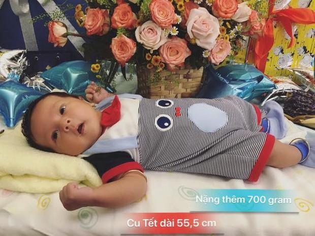 Thanh Thuý mừng đầy tháng con trai, biểu cảm của cu Tết là điều được chú ý hơn cả! - Ảnh 1.