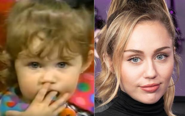 Bạn có nhận ra cô bé 2 tuổi liếc mắt lém lỉnh này chính là nữ ca sĩ thiếu nghị lực Miley Cyrus? - Ảnh 6.