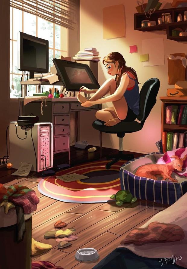 Bộ tranh: Vì sao con gái ai cũng nên có khoảng thời gian tận hưởng sự một mình? - Ảnh 13.