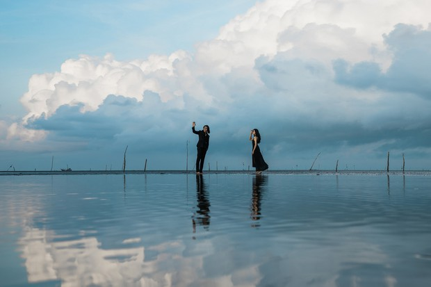 Phát hiện toạ độ chụp ảnh đẹp như ngôn tình Hàn Quốc tại biển Cần Giờ - Ảnh 1.