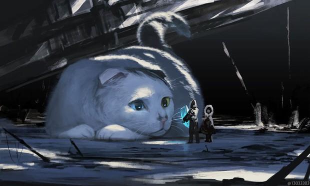 Họa sĩ Nhật Bản vẽ ra một thế giới nơi con người vui sống giữa những con thú khổng lồ - Ảnh 7.