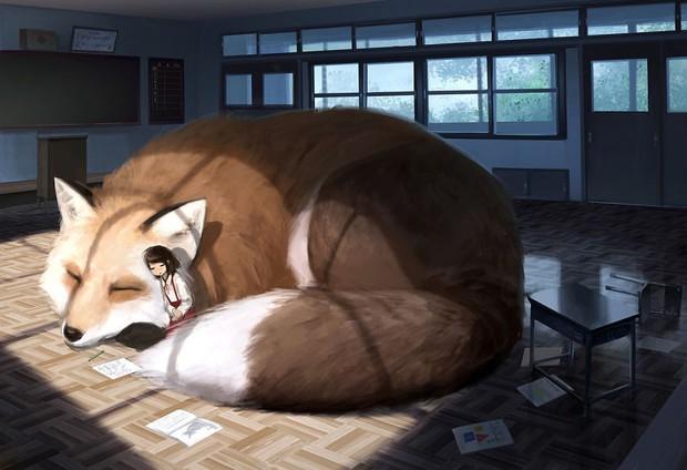 Họa sĩ Nhật Bản vẽ ra một thế giới nơi con người vui sống giữa những con thú khổng lồ - Ảnh 11.