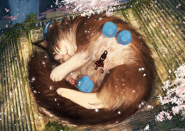 Họa sĩ Nhật Bản vẽ ra một thế giới nơi con người vui sống giữa những con thú khổng lồ - Ảnh 13.
