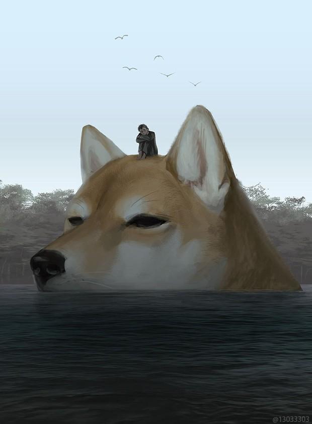 Họa sĩ Nhật Bản vẽ ra một thế giới nơi con người vui sống giữa những con thú khổng lồ - Ảnh 16.