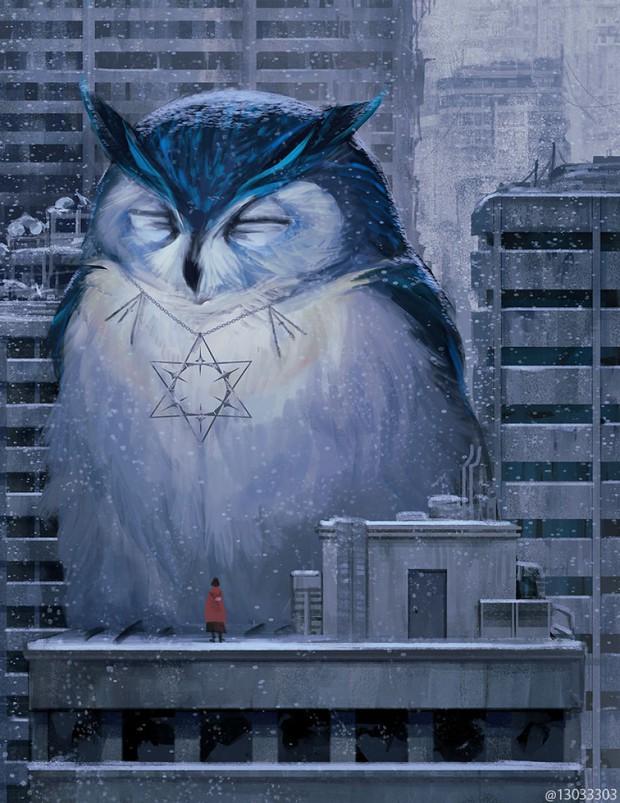 Họa sĩ Nhật Bản vẽ ra một thế giới nơi con người vui sống giữa những con thú khổng lồ - Ảnh 17.