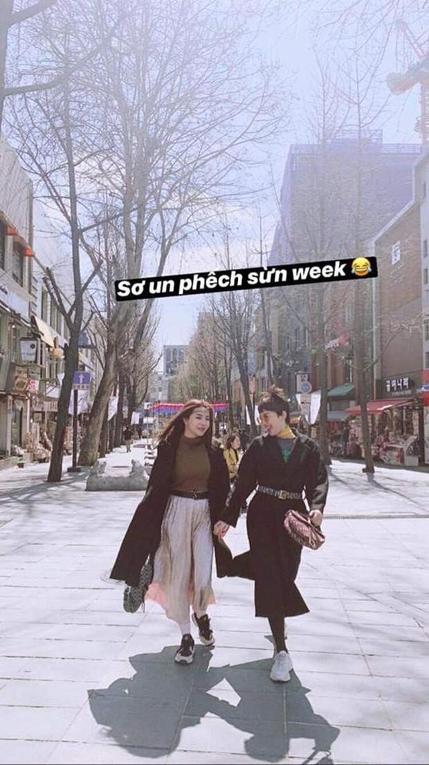 """Sau tin đồn đính hôn, Tóc Tiên và Touliver bất ngờ """"du hí"""" Hàn Quốc cùng vợ chồng hotgirl Hạt Mít - Ảnh 1."""