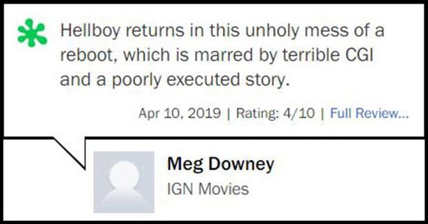 Nhận điểm bình chọn thấp tệ hại, Hellboy ôm về danh hiệu phim chuyển thể tệ nhất lịch sử - Ảnh 8.