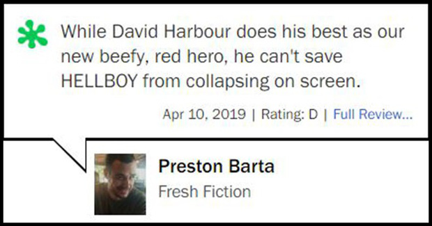 Nhận điểm bình chọn thấp tệ hại, Hellboy ôm về danh hiệu phim chuyển thể tệ nhất lịch sử - Ảnh 7.