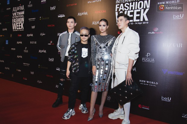 Tiểu Vy giật giũ, Nam Em thành đại phu nhân trên thảm đỏ Aquafina Vietnam International Fashion Week - Ảnh 20.