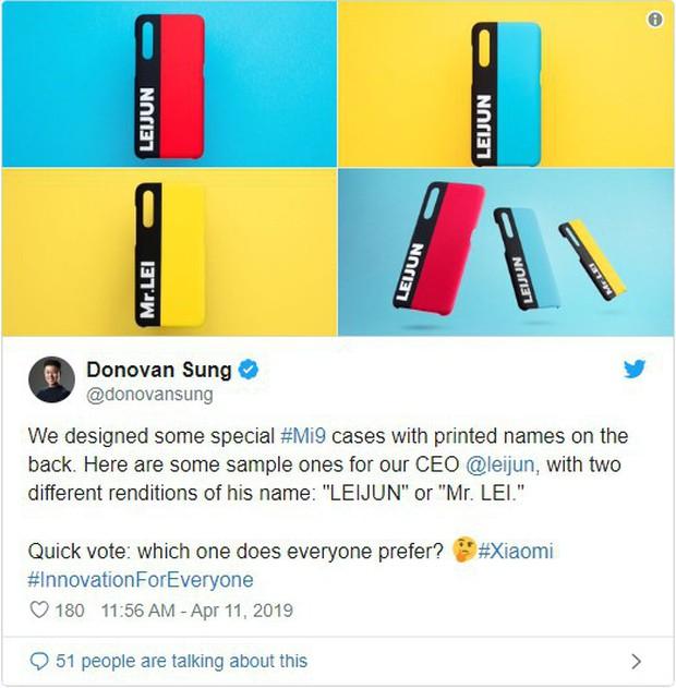 Xiaomi ra mắt ốp lưng in tên chính vị CEO của mình - Ảnh 2.