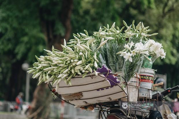 Hà Nội tháng 4: Hoa loa kèn nở e ấp trên phố, từng cánh trắng muốt và thoảng hương dịu ngọt - Ảnh 11.