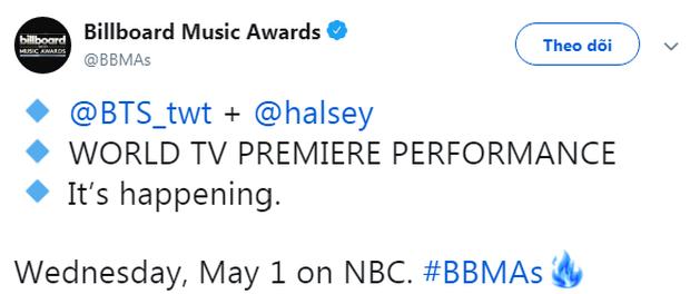 Nóng bỏng tay: BTS xuất hiện đầy lịch lãm trong sân khấu đầu tiên của Boy with Love, xác nhận biểu diễn cùng Halsey tại BBMAs 2019 - Ảnh 2.