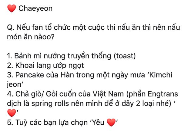 Không ngờ thánh nhảy Chaeyeon của IZ*ONE lại thích món gỏi cuốn Việt Nam đến thế này - Ảnh 3.