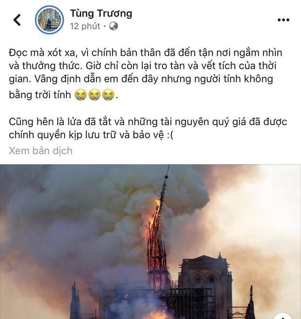 """Giới trẻ Việt đồng loạt đăng status xót xa khi thấy Nhà thờ Đức Bà Paris cháy: """"Cuộc hẹn với nước Pháp đã không còn vẹn nguyên!"""" - Ảnh 15."""