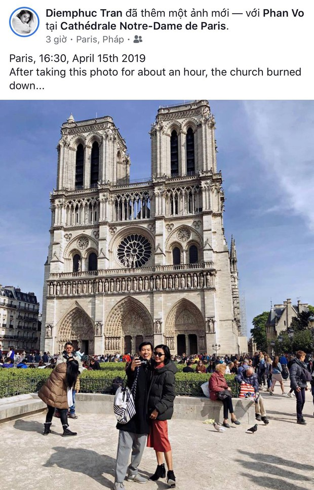 """Giới trẻ Việt đồng loạt đăng status xót xa khi thấy Nhà thờ Đức Bà Paris cháy: """"Cuộc hẹn với nước Pháp đã không còn vẹn nguyên!"""" - Ảnh 7."""