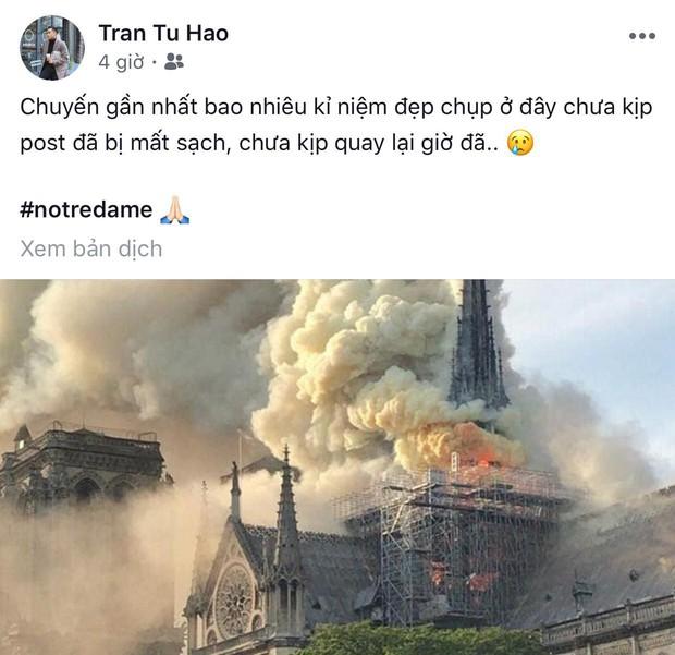 """Giới trẻ Việt đồng loạt đăng status xót xa khi thấy Nhà thờ Đức Bà Paris cháy: """"Cuộc hẹn với nước Pháp đã không còn vẹn nguyên!"""" - Ảnh 9."""