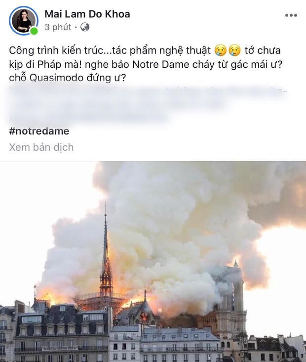 """Giới trẻ Việt đồng loạt đăng status xót xa khi thấy Nhà thờ Đức Bà Paris cháy: """"Cuộc hẹn với nước Pháp đã không còn vẹn nguyên!"""" - Ảnh 19."""